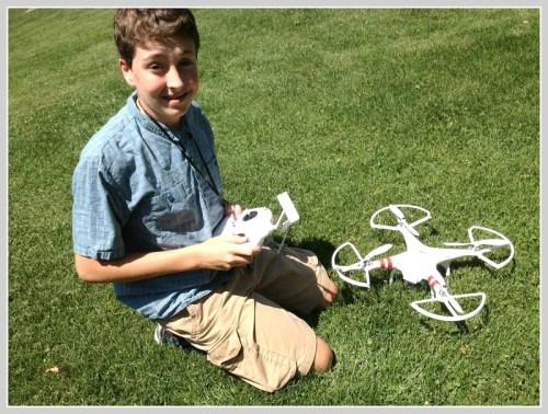 Rick Eason and his drone.