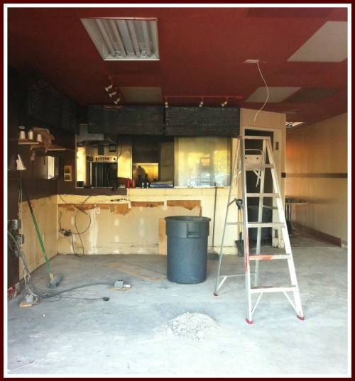 Alex and some friends have already started renovating the interior.