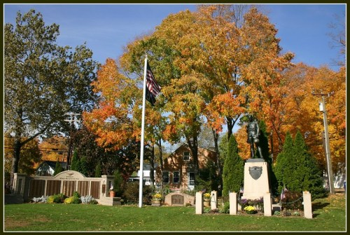 New trees will join old on Veterans Green.