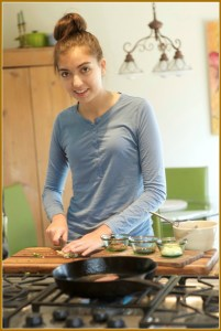 Sophia Hampton shows off her culinary skills. (Photo/JP Vellotti)