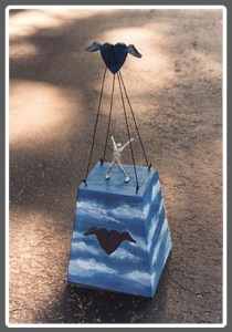 A beautiful birdhouse, designed and built by Miggs Burroughs.