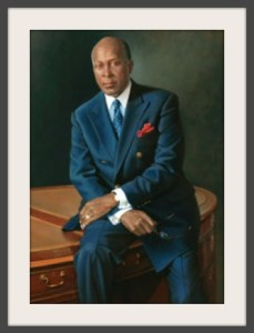 Bradley Stevens' depiction of Vernon Jordan hangs in the National Portrait Gallery. (Photo/GW Magazine)