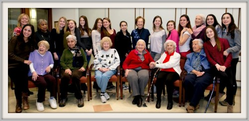 Girlfriends of all ages get together at the Senior Center. (Photo/Susan Woog Wagner)