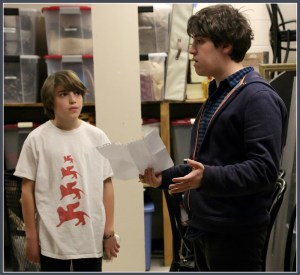 A pair of Pugsleys: Adam Riegler (right) works with Coleytown's Oscar Hechter.
