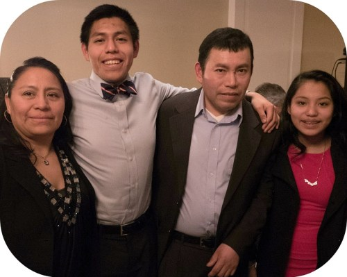 A proud Luis Cruz, and his equally proud family.
