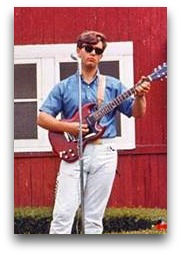 When he wasn't picking up his father, Mark Groth played guitar.