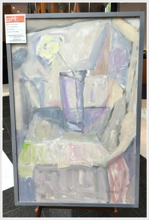 Joyce Landon is among 65 artists who is showing downtown, for the next month. Her works can be seen in the TD Bank lobby.