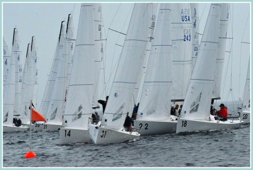 Long Island Sound can get crowded with racers. (Photo/Richard Gordon)