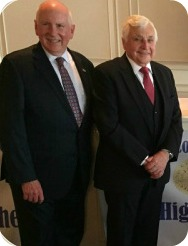 Dr. Elliott Landon (right) with First Selectman (and former Board of Education chair) Jim marpe.