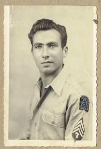 Herb Barrett, during World War II.