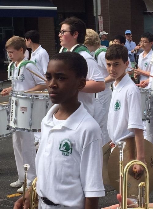 The Coleytown Middle School band. (Photo/Bruce Haymes)