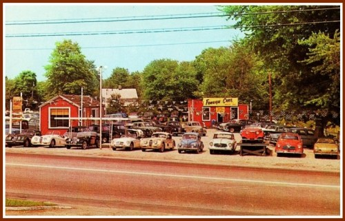 Foreign cars - 1950s - Post Road