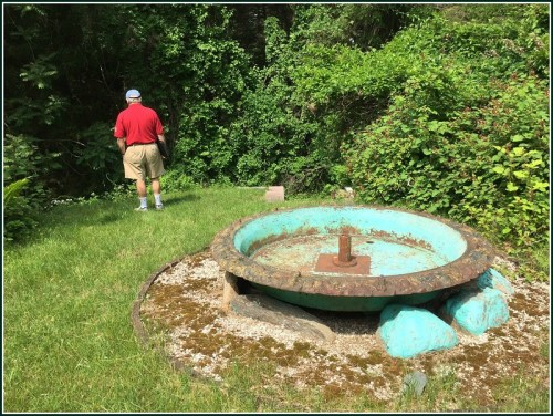 There was a greenhouse, but it no longer exists. This fountain is believed to have been brought to the property from the other land the baron owned -- what we now call Winslow Park, across the Post Road on North Compo.