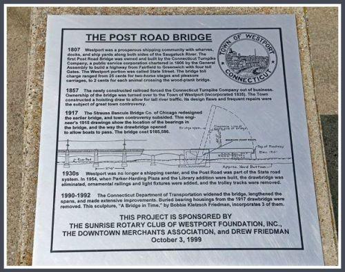 Post Road bridge plaque