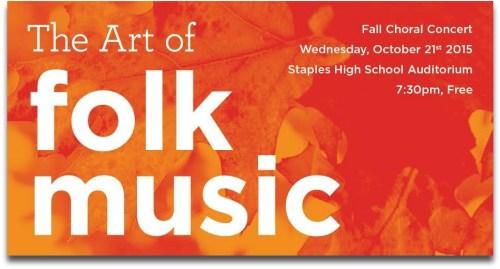 Folk music poster