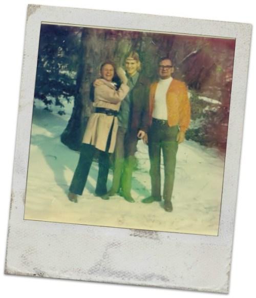 Kevin O'Brien celebrating Christmas in Westport, 1970.
