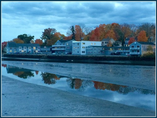 Saugatuck River downtown evening 1 - Lynn U. Miller