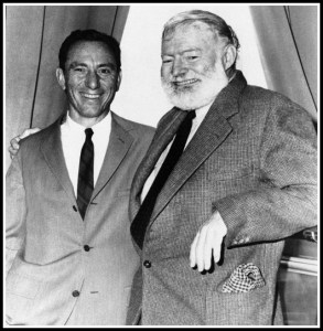 A. E. Hotchner and Ernest Hemingway, in an undated photograph.