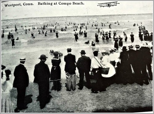 Compo Beach with flying machine