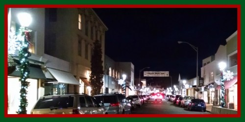 Holiday lights - downtown