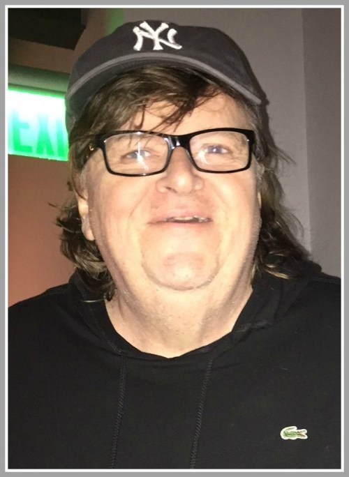 Michael Moore at Vespa restaurant last night.