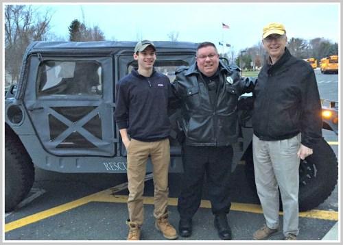 Walter Paulovic, Ned Batlin and Jay Dirnberger, 7:15 morning at Staples High School.