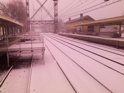 """No word from Metro-North on whether (weather?) there was """"Good Service"""" today. (Photo/Fred Cantor)"""