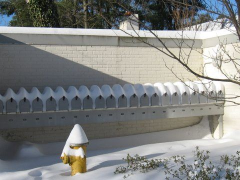 Snowy mailboxes at Harvest Commons. (Photo/Jo Ann Davidson)