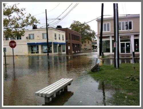 Hurricane Irene flooded downtown Westport, in August 2011.