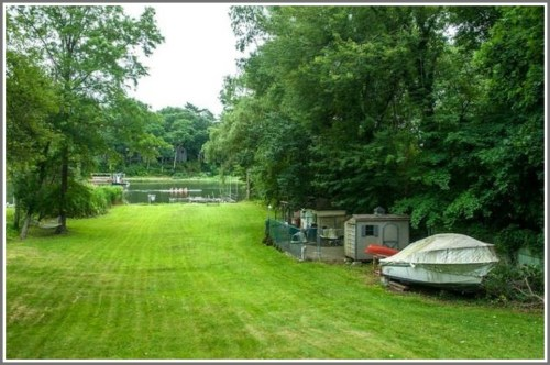 Another property -- 447 Riverside Avenue -- is on the Saugatuck River. (Photo/Zillow.com)