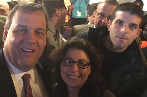 Governor Chris Christie, Toni and Michael O'Day.