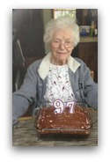 Janette Arenander, celebrating her 97th birthday.