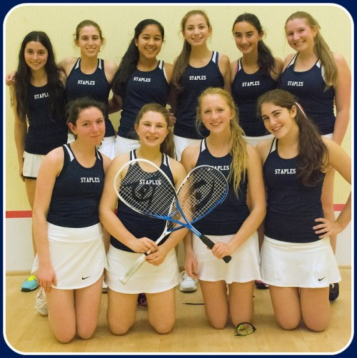 Staples' girls squash team. (Photo/Stacy Bass)