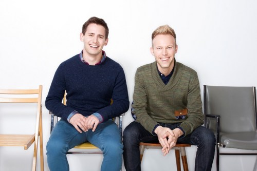 Justin Paul (right) and Benj Pasek.