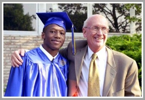 Bill Mitchell with Marques Brown (Kolbe Cathedral '03).