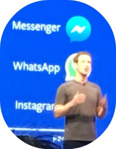Dylan Diamond was up close for Mark Zuckerberg's keynote address.