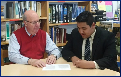 Gerry Kuroghlian and Bryan Tacuri. The Kolbe Cathedral senior has been accepted at 7 colleges, including Fairfield, Sacred Heart and the University of Connecticut.