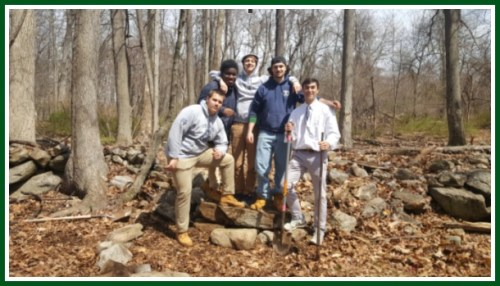 Staples High School students recently helped maintain the trails -- and trees at the Lillian Wadsworth Arboretum.