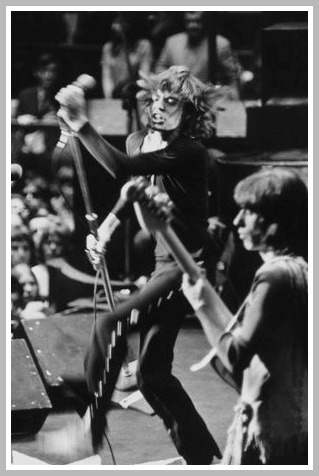 The Rolling Stones perform at a Hell's Angels concert in California. No, it wasn't Altamont. (Photo/Michael Friedman)