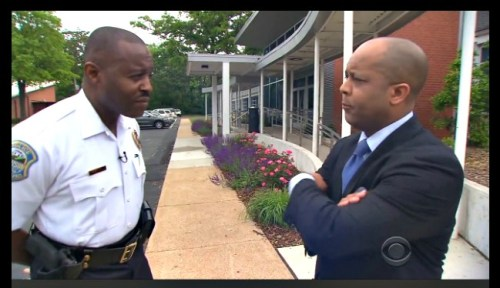 Jeff Pegues interviews Ferguson police chief Delrish Moss.