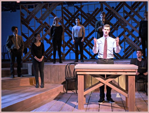 "Keenan Pucci, and the ""Laramie Project: 10 Years Later"" company. (Photo/Kerry Long)"