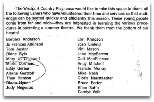 Playhouse playbill - ushers