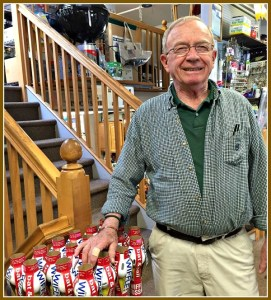 "A.J. ""Red"" Izzo, at his familiar spot in Crossroads Ace Hardware."