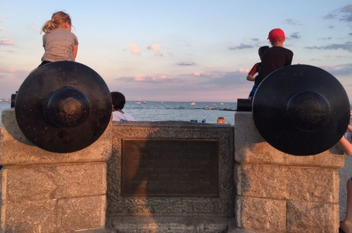 A classic shot. We sometimes forget that the cannons represent Westport's part in our war for independence.