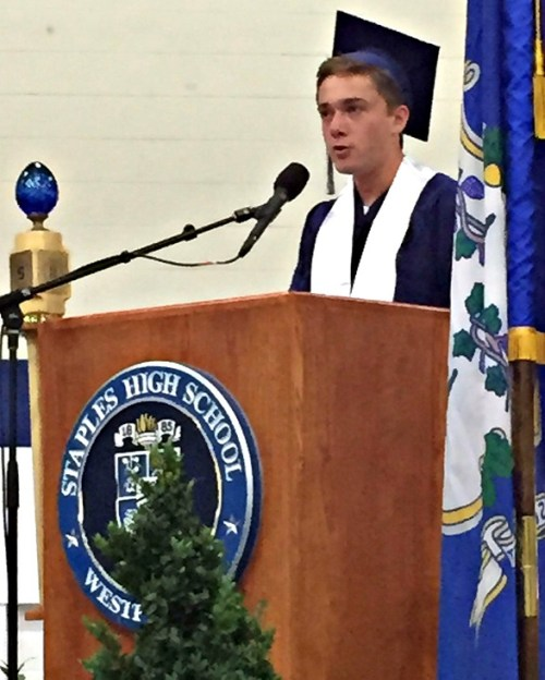 Valedictorian Will Andrews has a strong message for his 2016 classmates.