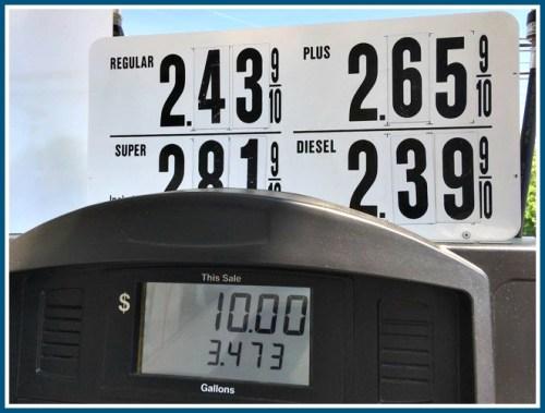 Wheels gas pump