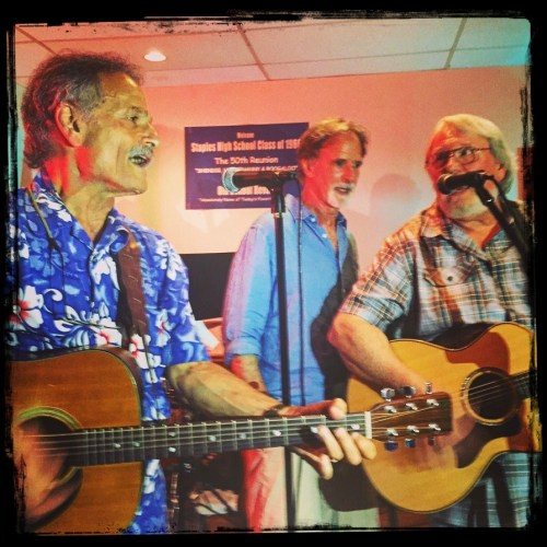 Jon Gailmor, Steve Emmett and Rob Carlson reprised the famed Triumvirate group at the VFW. Gailmor replaced the late Chris Avery.