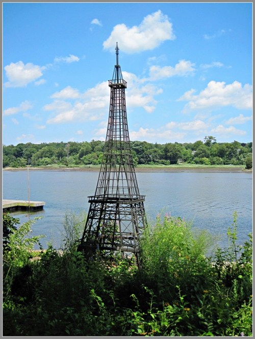 "Kelly Spearen's ""Eiffel Tower"" now sits on a private residence, along the Saugatuck River."