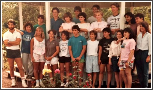 """In 1985, this group of Staples High School """"Student Educators"""" posed for a photo."""