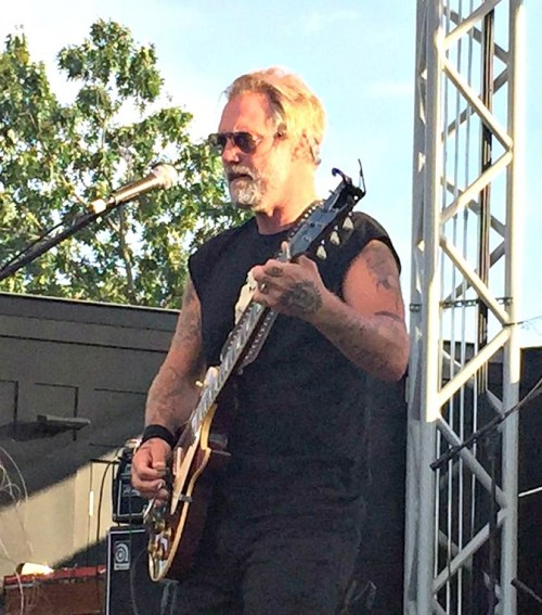 But I was right on time for Anders Osborne, on the Levitt Pavilion mainstage.